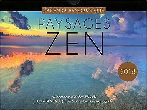 Agenda panoramique Paysages zen 2018