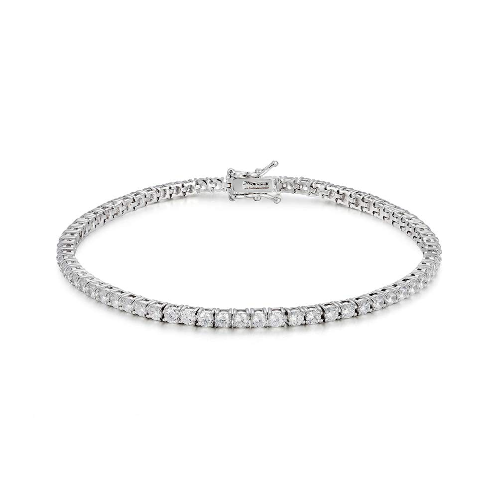NYC Sterling Cubic Zirconia Classic Tennis Bracelet, Silver