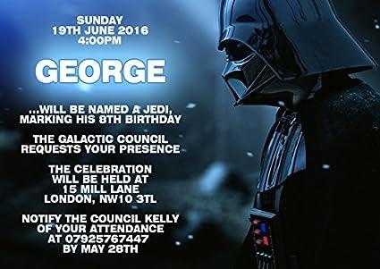 10 x Star Wars personalizado niños fiesta de cumpleaños ...