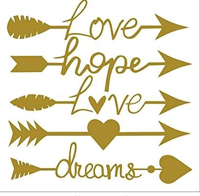 YCYLYZ Patrón de Flecha Love Hope DIY Pegatinas de Pared para el ...