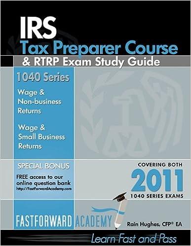 Amazon com: IRS Tax Preparer Course & RTRP Exam Study Guide