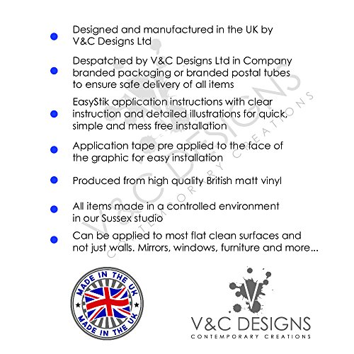 V&C Designs ® Laundry Washing Symbols Wall Sticker Decal
