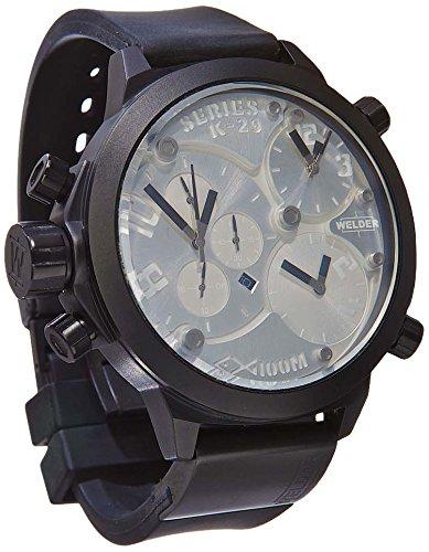 Welder K29-8000 - Reloj para hombres, correa de goma color negro