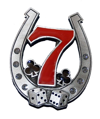 Horseshoe Lucky Number 7 and Dice Belt Buckle (CS-035) (Dice Belt Buckle)
