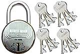 HORSEMAN T-26 7 Levers Steel Door Lock Very Useful For Main Door of Apartments | Marketing Complex | Rental Property | House (12 Keys)