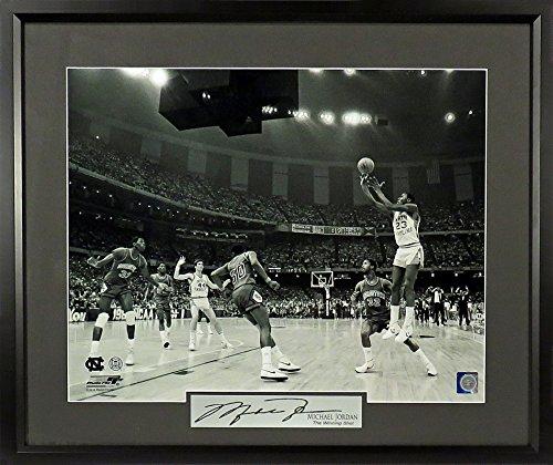 "Michael Jordan Signature Series 16x20 Photo Framed ""Winning Shot"" UNC"