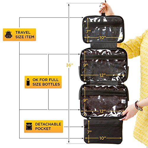 d1fff7f5b70f Large Versatile Travel Cosmetic Bag - Perfect Hanging Travel Toiletry  Organizer