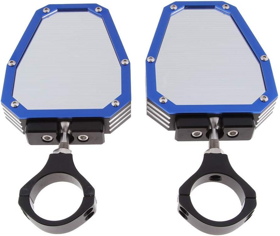 Bleu WASTUO R/étroviseur Lat/éral avec Cage De 1,75pour Vision Arri/ère pour UTV SXS Arctic Cat Polaris