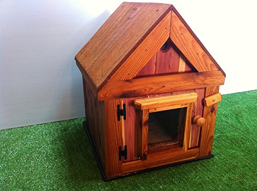 Custom Cedar Heated Outdoor Cat House by STABOB'S HANDCRAFTED PET HOUSES