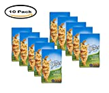 PACK OF 10 - 9 Lives Indoor Complete w/Real Salmon & Chicken Cat Food, 3.15 lb