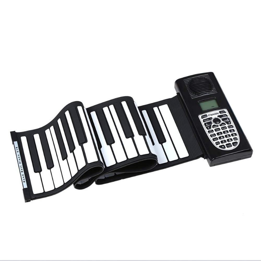 子供用ハンドロールピアノ 61キーロールアップピアノ子供電子ピアノ子供キーボードミニボリュームソフトシリコンフレキシブル電子デジタル音楽 MIDI電子キーボードでB07Q6PXDRP, 中田町:d81ceb90 --- publishingfarm.com