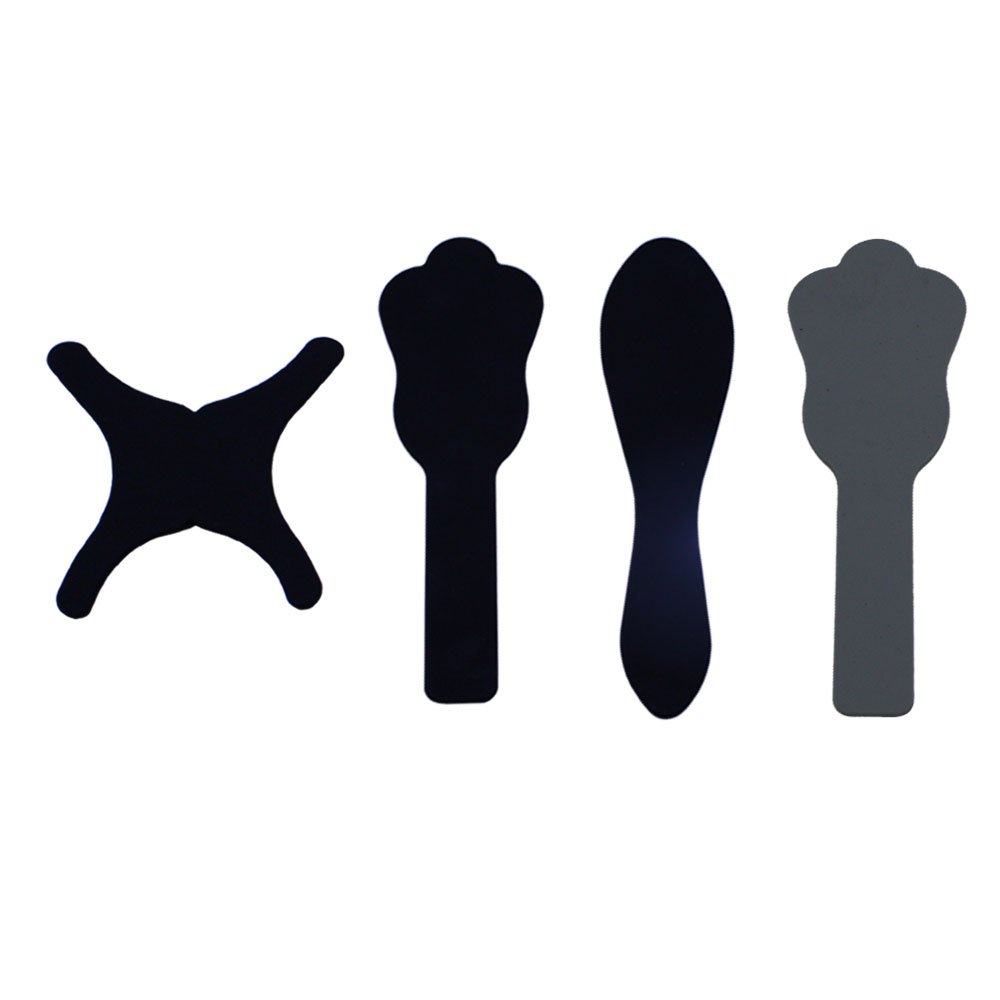 4pcs/Pack Dental Oral Cheek Photographic Black Background Board Backdrop Plate