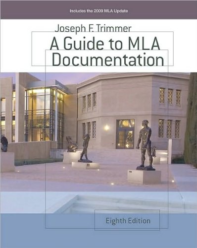 by Joseph F. Trimmer Custom Enrichment Module: A Guide to MLA Documentation(text only)8th (Eighth) edition[Paperback]2009 (D R Trimmer)
