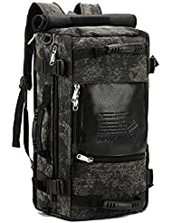 MAYZERO 30L Vintage Canvas Backpacks Travel Duffel Bags Camping Rucksack Traveling Hiking Backpack