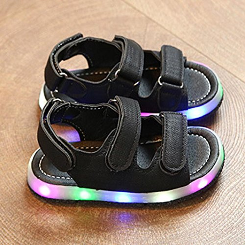 ABsolutely Baby Children LED Luminous Shoes Toddler Kids Sport Summer Boys Girls Baby Sandals Baby Summer Shoes Age:0.5-1T//UK:4.5, Black