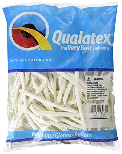 Qualatex 260Q White Pencil Latex Balloons, 100 Pack (Balloon Pencils)