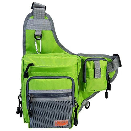 Piscifun sports shoulder bag fishing tackle bag crossbody for Fishing tackle bags