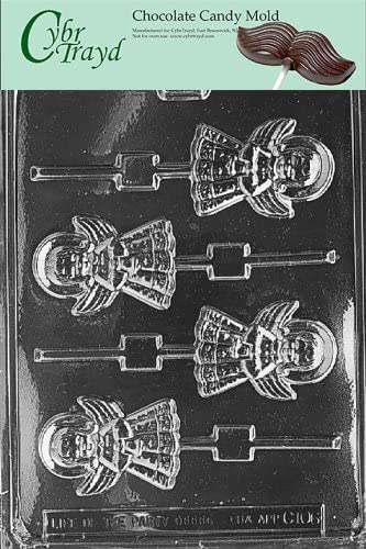 Cybrtrayd Life of the Party C035 Christmas Tree Lolly  Chocolate Candy Mold in Sealed Protective Poly Bag Imprinted with Copyrighted Cybrtrayd Molding Instructions