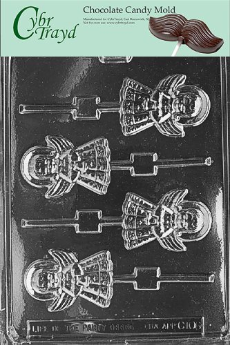 Cybrtrayd Life of the Party C106 Angel Lolly  Chocolate Candy Mold in Sealed Protective Poly Bag Imprinted with Copyrighted Cybrtrayd Molding Instructions