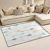 WellLee Area Rug,Ethnic Colorful Tribal Arrows Floor Rug Non-slip Doormat for Living Dining Dorm Room Bedroom Decor 60x39 Inch