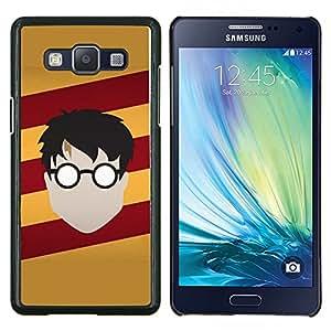 Harry Nutria- Metal de aluminio y de plástico duro Caja del teléfono - Negro - Samsung Galaxy A5 / SM-A500
