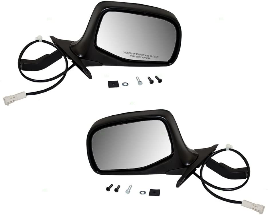 Amazon Com Driver And Passenger Power Side View Mirrors Black Chrome Replacement For Ford Suv Pickup Truck F7tz17682baa F7tz17683bab Automotive