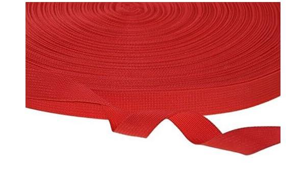 kraftz® rojo polipropileno cincha correa 25 mm x 50 m cinta adhesiva multiusos para DIY Craft cinturón mochila banderines de delantal de flejado: Amazon.es: ...