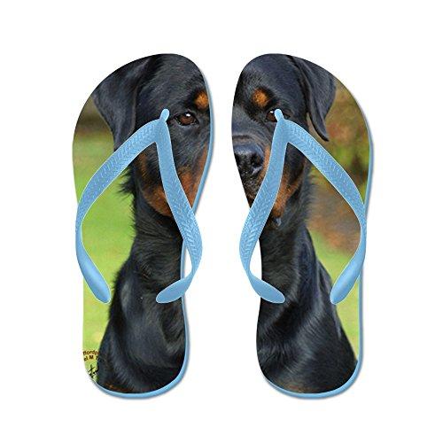 Cafepress Rottweiler 9w044d-073 - Flip Flops, Roliga Rem Sandaler, Strand Sandaler Caribbean Blue