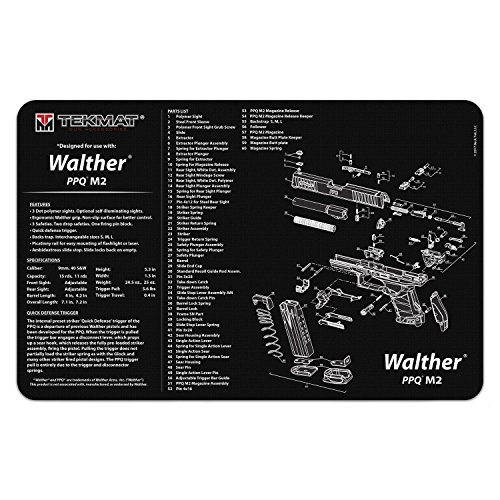 TekMat Cleaning Mat for use with Walther PPQ M2 (Parts Walther Gun)