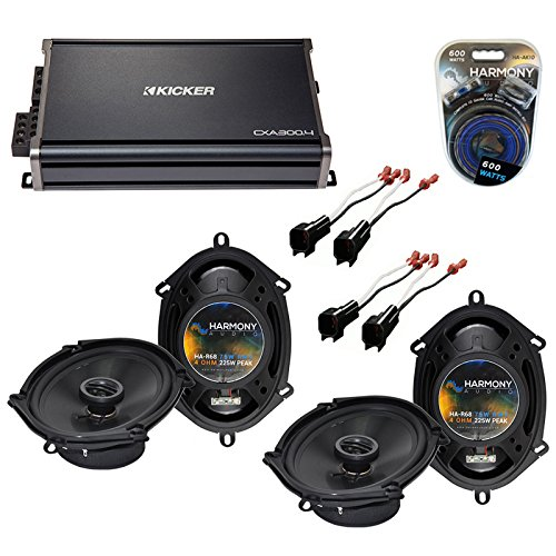 Compatible with Ford F-250/350/450/550/650/750 99-04 Speaker Upgrade Harmony 2 R68 & CXA300.4 Amp (Renewed)