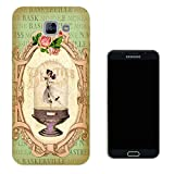 000532 - Vintage Shabby Chic Victorian Floral Roses Vase Ballet Dancer Design Samsung Galaxy A5 (2017) SM-A520F Fashion Trend CASE Gel Rubber Silicone All Edges Protection Case Cover