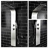Shower Panel Column Tower w/Body Jets + Waterfall Bathroom Shower