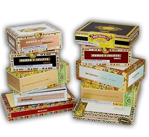 Paper Covered Empty Cigar Box; pack of 10