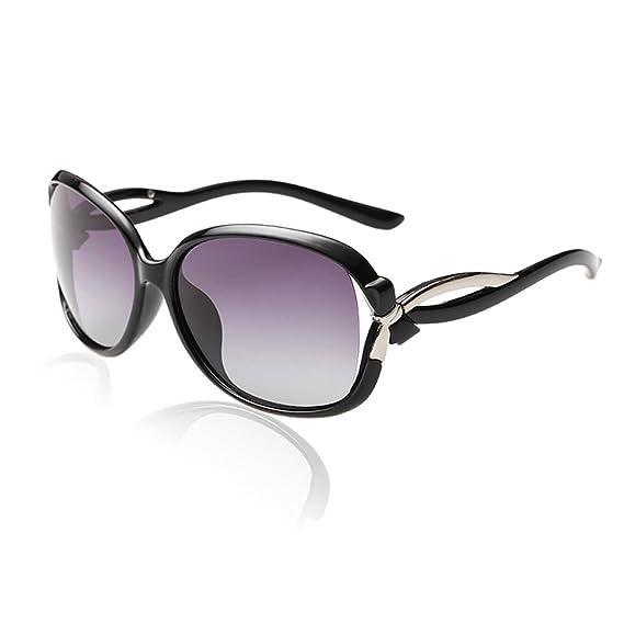 Duco Lunettes de Soleil polarisées pour Femmes 100% Protection UV - 2229  (Cadre noir 383020c39353
