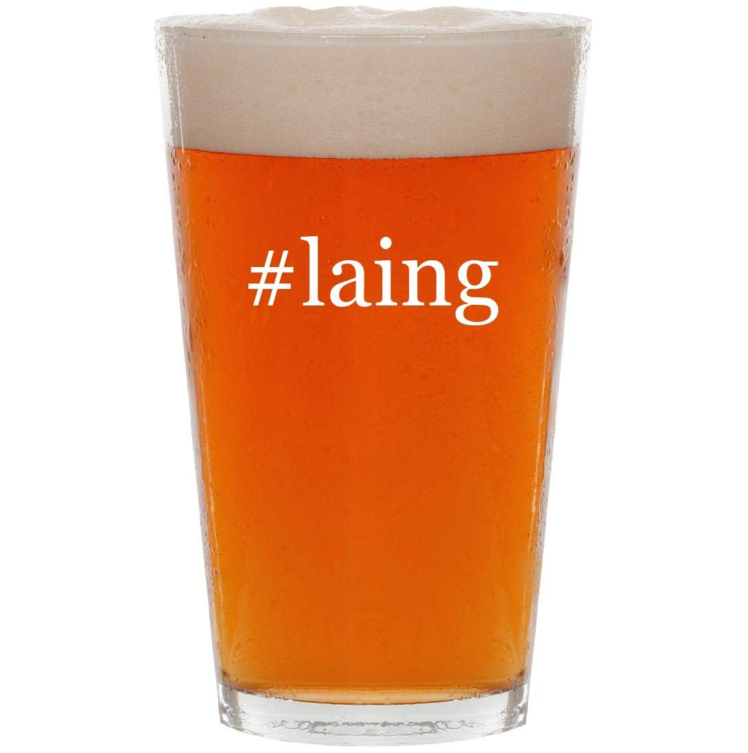 #laing - 16oz Hashtag Pint Beer Glass