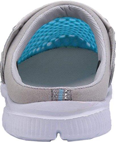 Sandalen Outdoor Schuhe Für Unisex Pantoletten Strand Sommer Herren Damen Clogs Bequem Hellblau Mesh Yooeen Atmungsaktiv Löcher Drainage Rutschfest Flache Hausschuhe Mit fvW6x10
