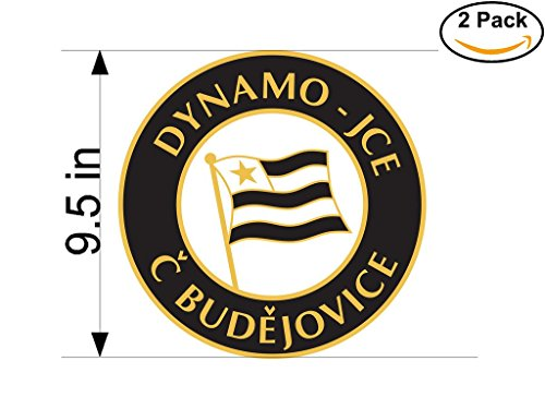 fan products of Dynamo-JCE Ceske Budejovice Czech Republic Soccer Football Club FC 2 Stickers Car Bumper Window Sticker Decal Huge 9.5 inches