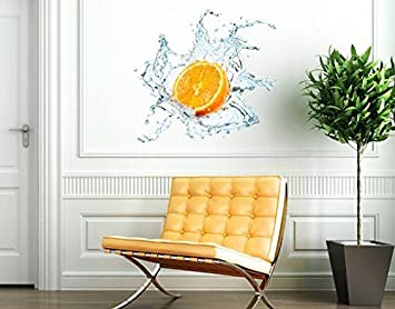 Wandtattoo No.434 Frische Orange WandSticker WandTattoo Küche Obst Sommer