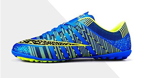 Jiye Mannen Voetbalschoenen Voor Vrouwen Turf Schoenen Indoor Cross Training Door Blauw
