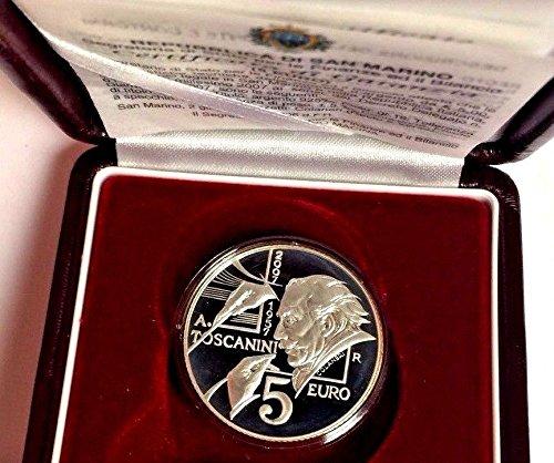2007 SM San Marino 2007 Silver Proof 5€ Coin Arturo Tosca 5 Euro Good