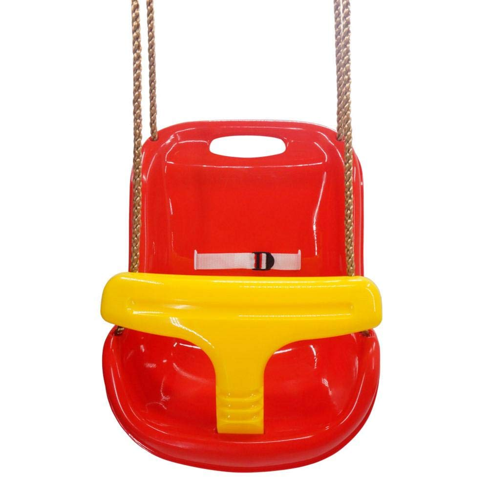 Lothver High Back Infant Swing Wide Seat Belt Toddler Child Kid Outdoor Play with Chain for Infants, Teens, Kids, Children