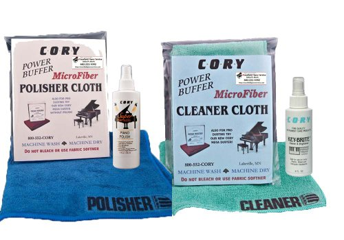 Super High Gloss Piano Polish Detailing Kit - 2oz bottles w/Microfiber Cleaning and Polishing Cloths