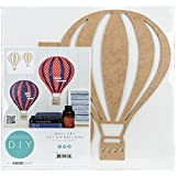 Beyond The Page Mdf Hot Air Balloon Wall Art 14.5-inch x 10.5-inch x .125-inch by Kaisercraft