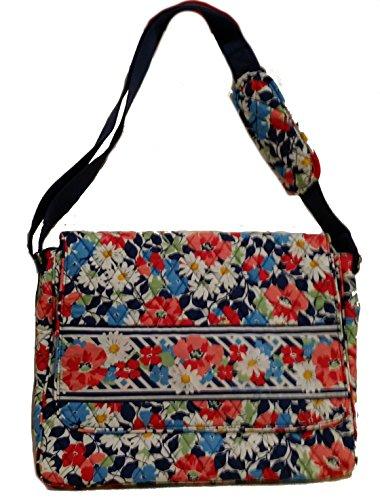 Vera Bradley Summer Cottage Messenger School Laptop Shoul...