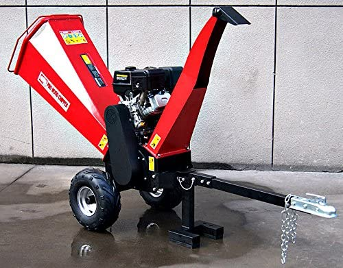 Wood Chipper Cutter Leaf Mulcher Shredder 5 Inch Capacity, Adjustable Deflector Vane Discharge Chute, 15HP Gas Power 4 Stroke Motor 420cc 1 Year Warranty Model DR-CS-15HP