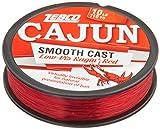 Cajun Line Zebco Cajun Low-Vis Fishing Line Pony 10 Lb/Test Low-Viz Ragin Red, 12 lb