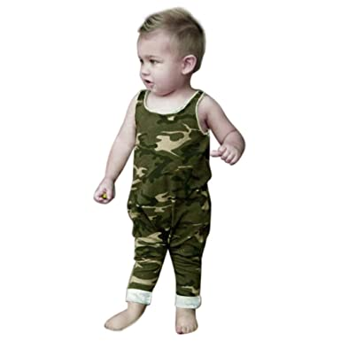 030e8f21b54 IGEMY Newborn Infant Baby Boys Girls Camouflage Shirt Romper Jumpsuit  Outfits Clothes (Size 6M