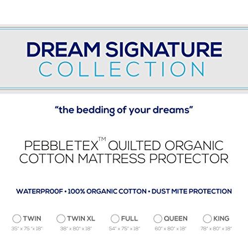 - Dream Signature Collection 100% Pebbletex Organic Cotton Twin Mattress Protector
