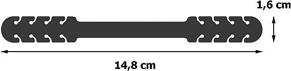 Correa Antideslizante Hebillas de Silicona Amarilla+Roja Pack 2 Piezas Agarres para Sujetar Cuello Aliviar las Molestias Presi/ón Cara Salva Orejas TBOC Salvaorejas Mascarillas Extensor Ajustable -