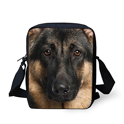 Bigcardesigns Animal German Shepherd Women Messenger Sling Preschool Crossbody Bag